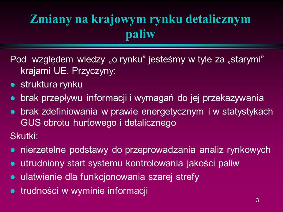 24 Zmiany na krajowym rynku detalicznym paliw l Następuje polaryzacja klientów: nastawieni na jakość nastawieni na cenę l Główne kryteria wyboru stacji (wg BPS Consultants Poland) lokalizacja (53%) cena (17%) l Wzrasta znaczenie sprzedaży pozapaliwowej