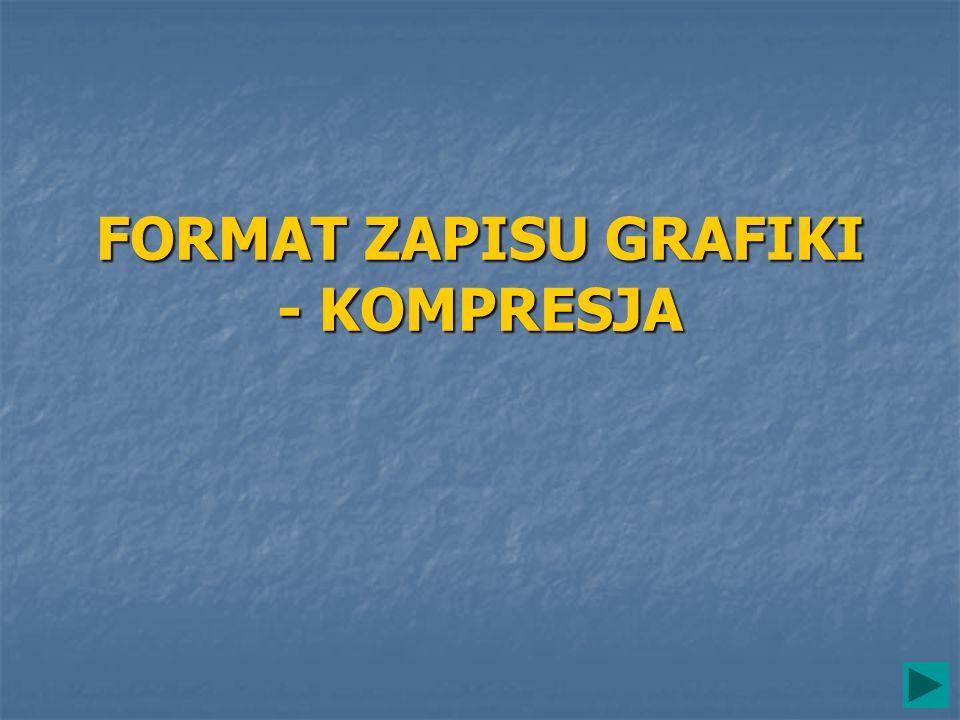 FORMAT ZAPISU GRAFIKI - KOMPRESJA