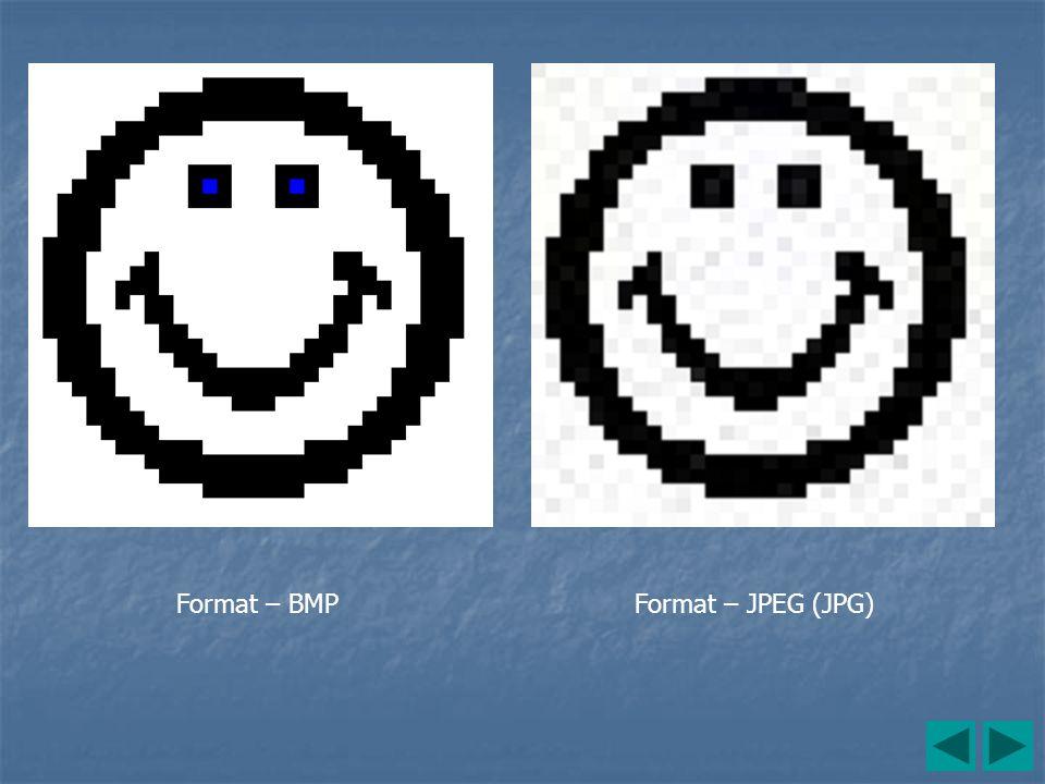 Format – BMP Format – JPEG (JPG)