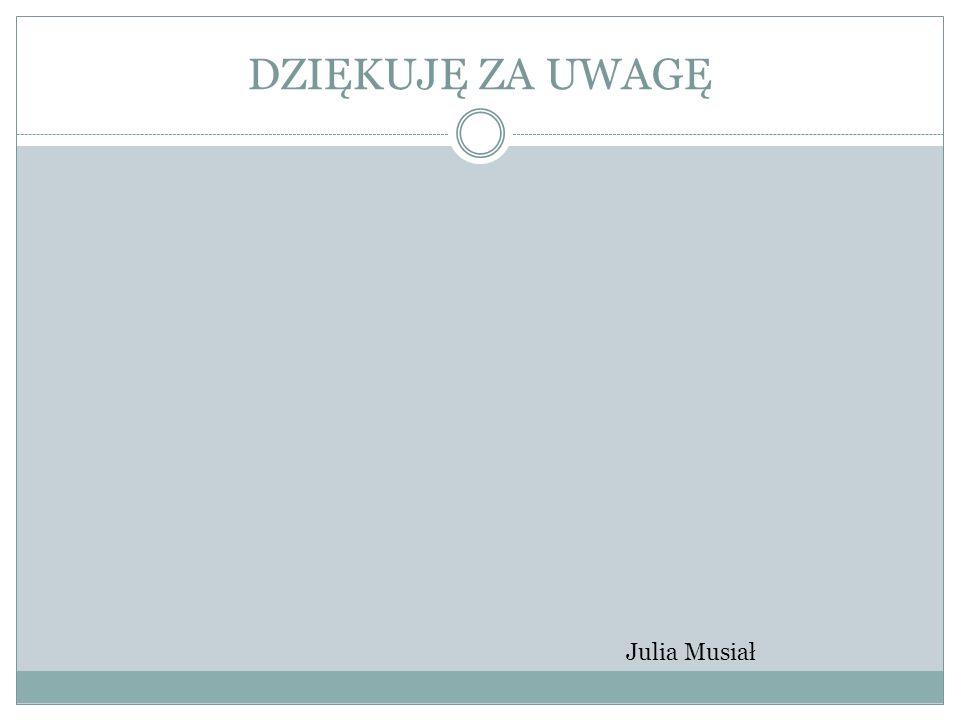 DZIĘKUJĘ ZA UWAGĘ Julia Musiał