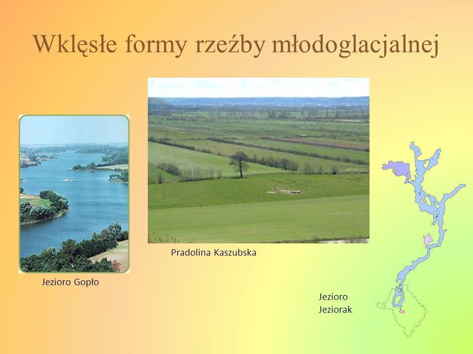 Wklęsłe formy rzeźby młodoglacjalnej Jezioro Gopło Pradolina Kaszubska Jezioro Jeziorak