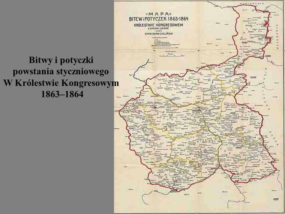 Bitwy i potyczki powstania styczniowego W Królestwie Kongresowym 1863–1864