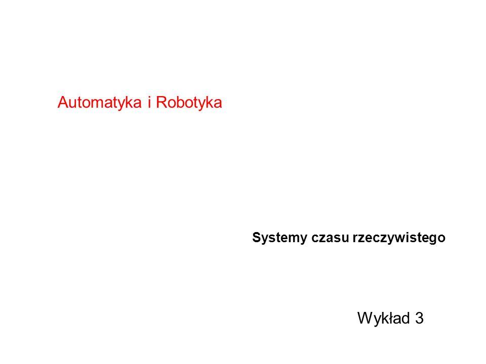 Typy procesów i wątków procesy i wątki asynchroniczne – aktywowane przerwaniami procesy i wątki synchroniczne – aktywowane układami odmierzania czasu procesy i wątki drugoplanowe – aktywowane gdy procesor ma wolne zasoby