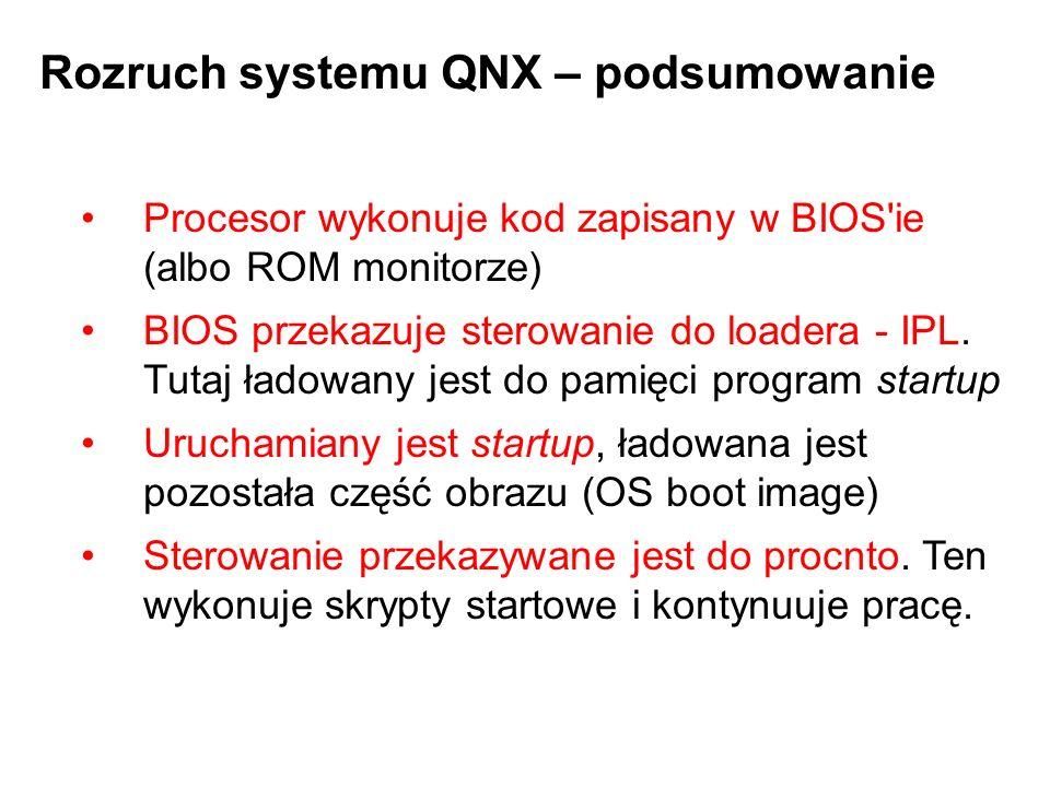 Procesor wykonuje kod zapisany w BIOS'ie (albo ROM monitorze) BIOS przekazuje sterowanie do loadera - IPL. Tutaj ładowany jest do pamięci program star