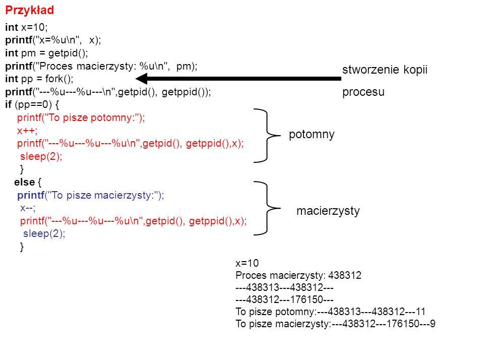 Przykład int x=10; printf(