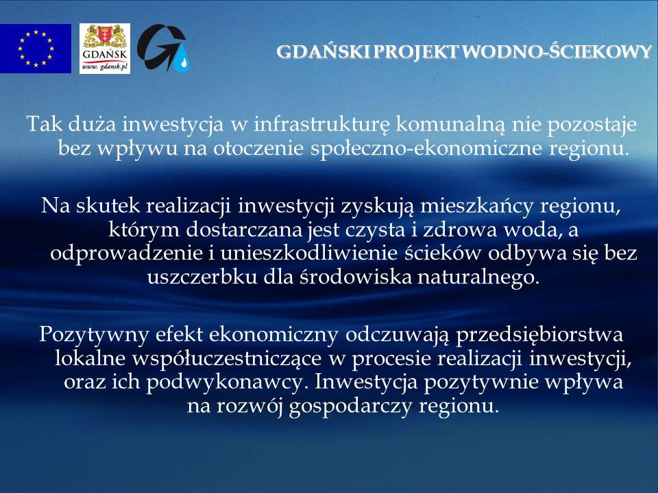 Tak duża inwestycja w infrastrukturę komunalną nie pozostaje bez wpływu na otoczenie społeczno-ekonomiczne regionu.