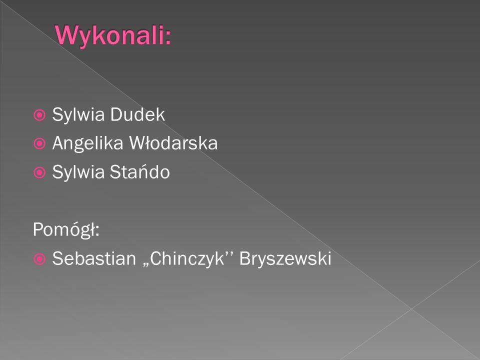 Sylwia Dudek Angelika Włodarska Sylwia Stańdo Pomógł: Sebastian Chinczyk Bryszewski