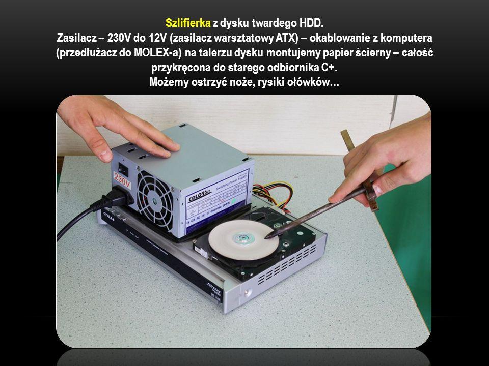 Szlifierka z dysku twardego HDD.