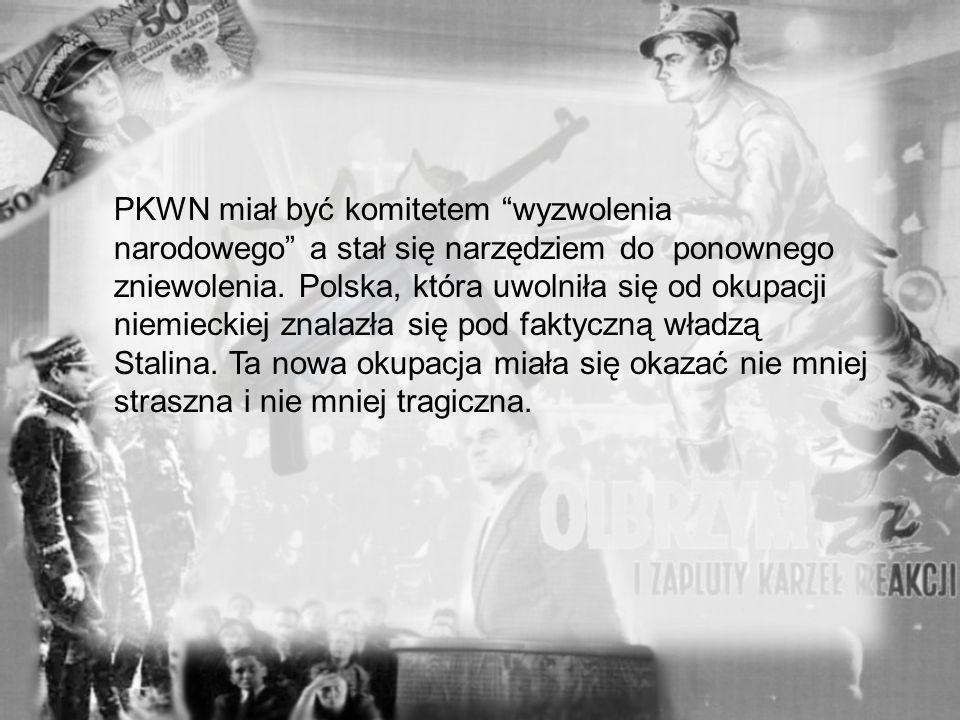 Przewodniczącym KRN był W skład PKWN weszli działacze Związku Patriotów Polskich, Polskiej Partii Robotniczej i niektórych innych ugrupowań o mniejszy