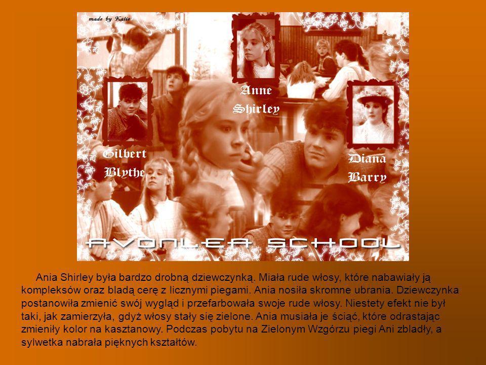 Ania Shirley była bardzo drobną dziewczynką. Miała rude włosy, które nabawiały ją kompleksów oraz bladą cerę z licznymi piegami. Ania nosiła skromne u
