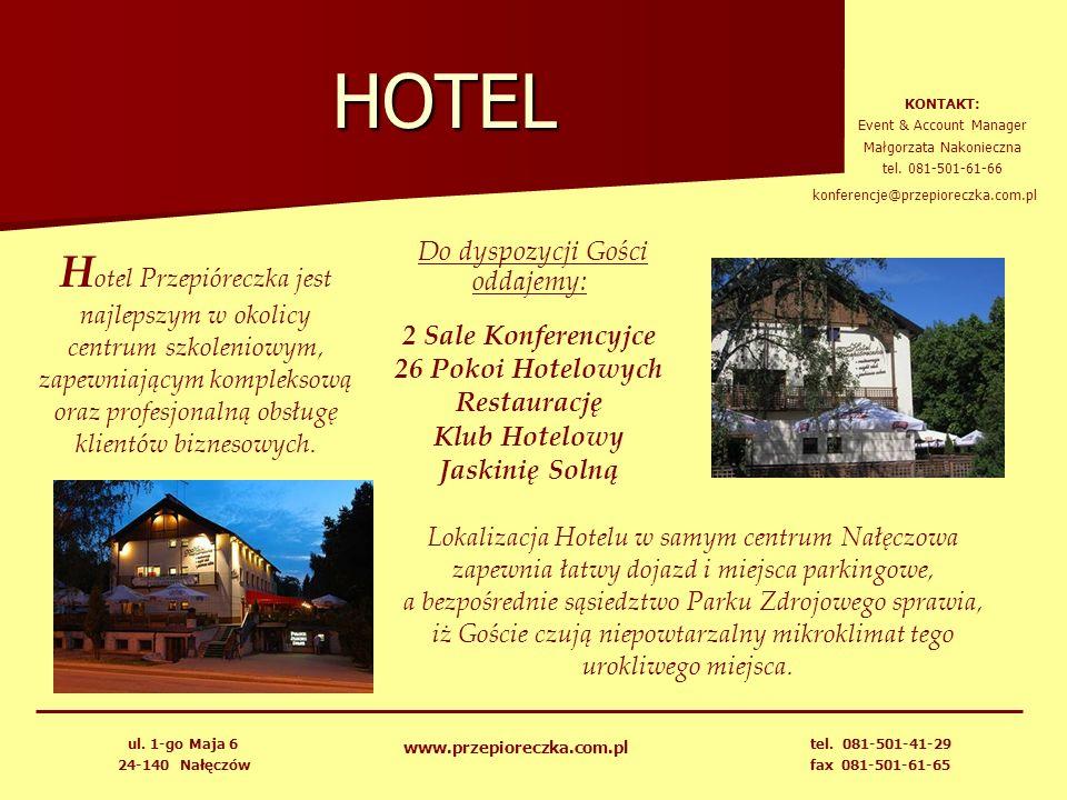 HOTEL H otel Przepióreczka jest najlepszym w okolicy centrum szkoleniowym, zapewniającym kompleksową oraz profesjonalną obsługę klientów biznesowych.