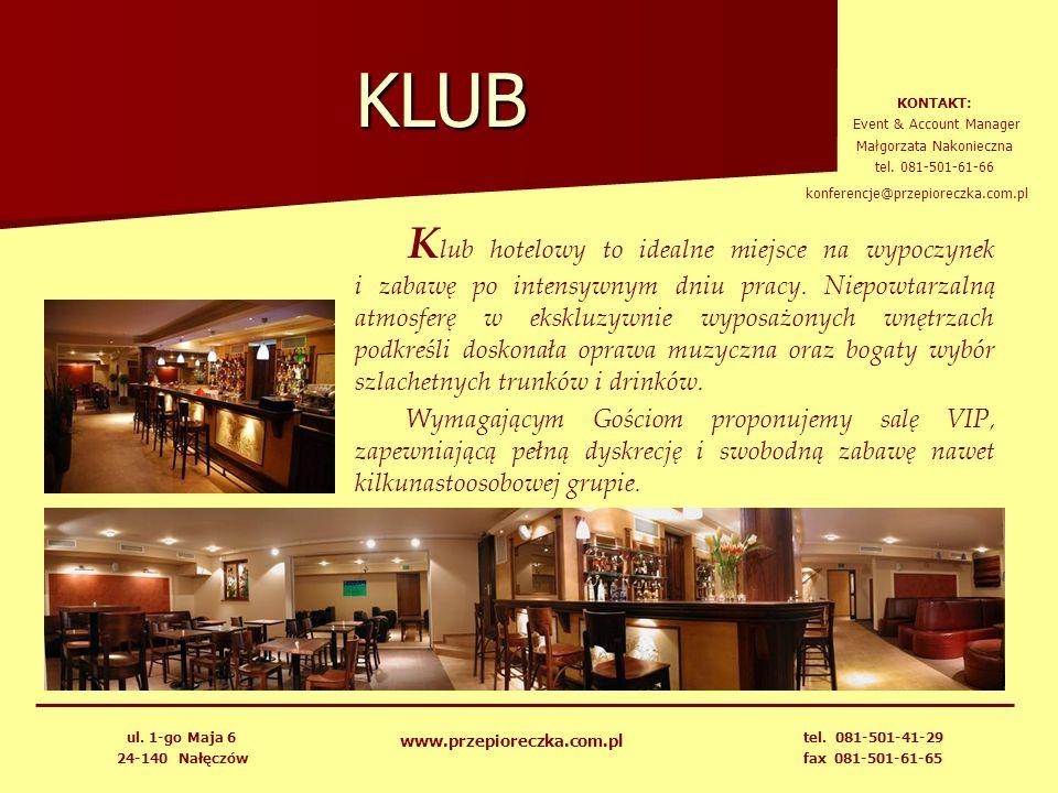 KLUB K lub hotelowy to idealne miejsce na wypoczynek i zabawę po intensywnym dniu pracy. Niepowtarzalną atmosferę w ekskluzywnie wyposażonych wnętrzac
