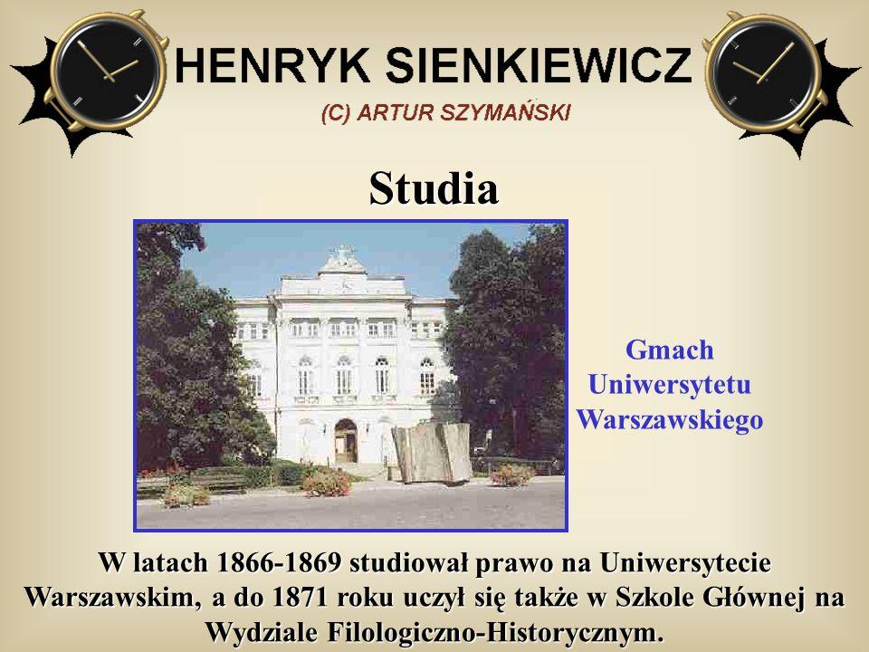 Studia W latach 1866-1869 studiował prawo na Uniwersytecie Warszawskim, a do 1871 roku uczył się także w Szkole Głównej na Wydziale Filologiczno-Histo