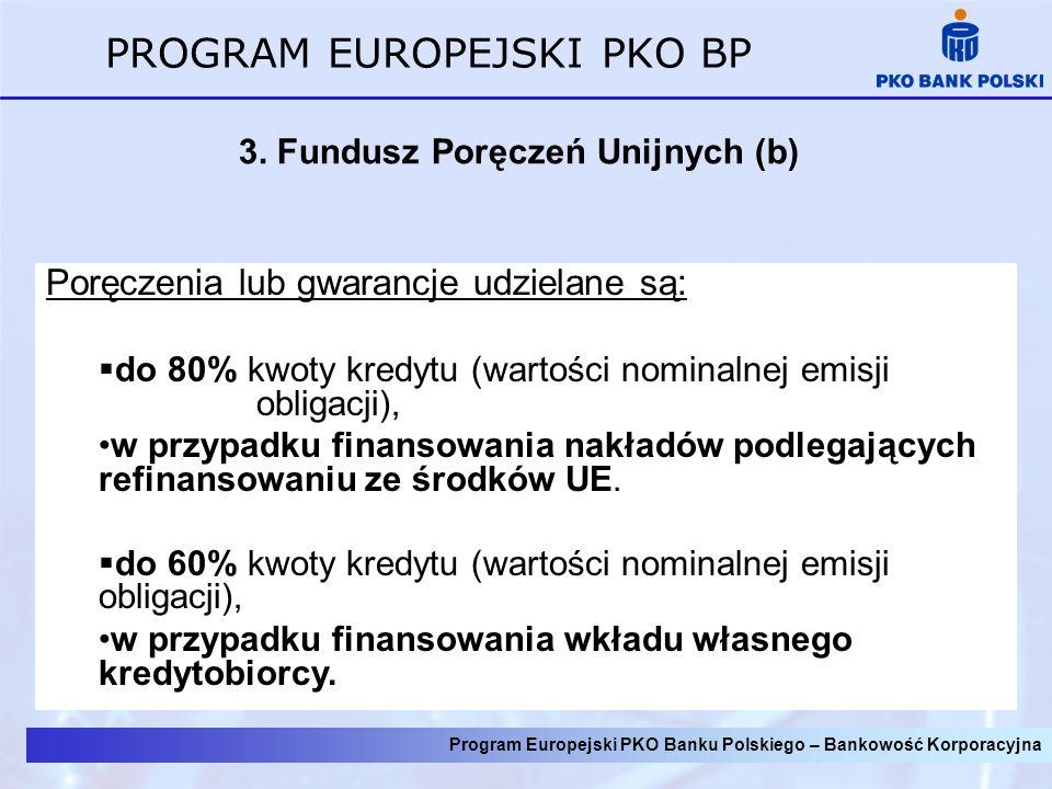 Program Europejski PKO Banku Polskiego – Bankowość Korporacyjna PROGRAM EUROPEJSKI PKO BP 3.