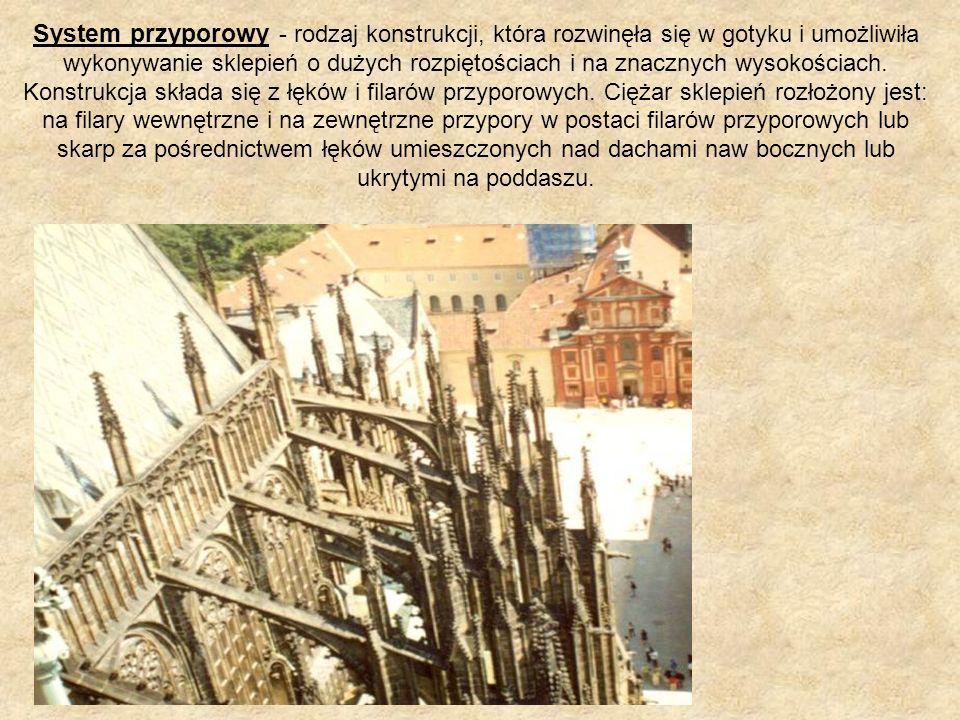 System przyporowy - rodzaj konstrukcji, która rozwinęła się w gotyku i umożliwiła wykonywanie sklepień o dużych rozpiętościach i na znacznych wysokośc
