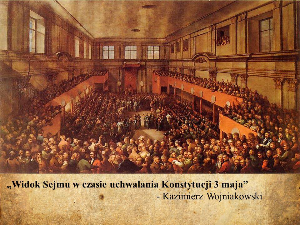 Widok Sejmu w czasie uchwalania Konstytucji 3 maja - Kazimierz Wojniakowski