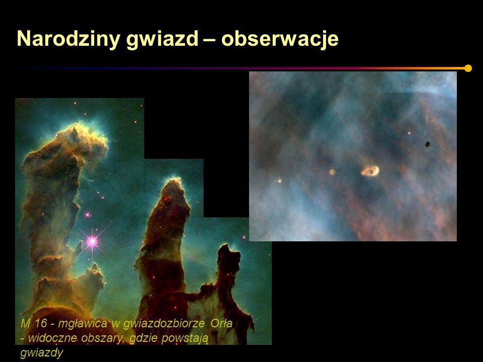 M 16 - mgławica w gwiazdozbiorze Orła - widoczne obszary, gdzie powstają gwiazdy