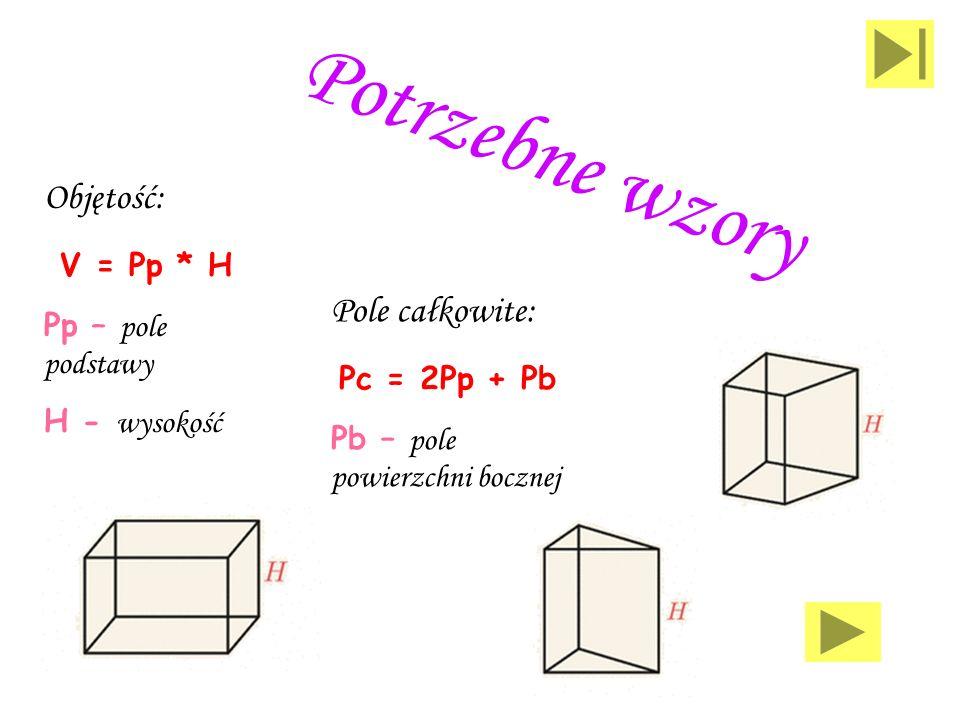 Przykłady graniastosłupów prostych