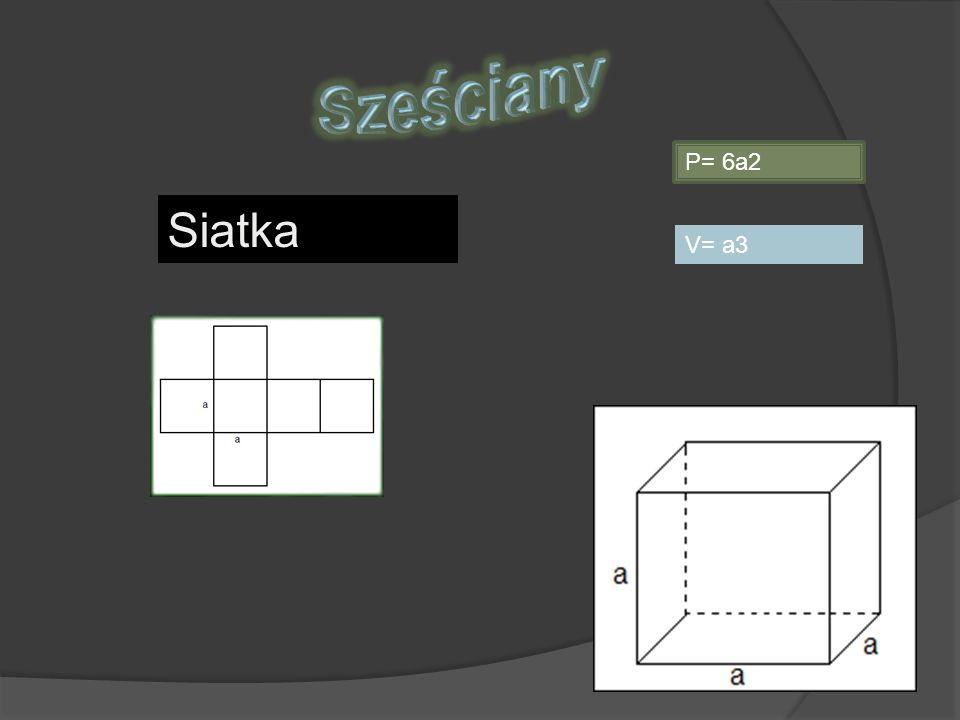 P= 2ab+2bH+2aH V= abc Siatka