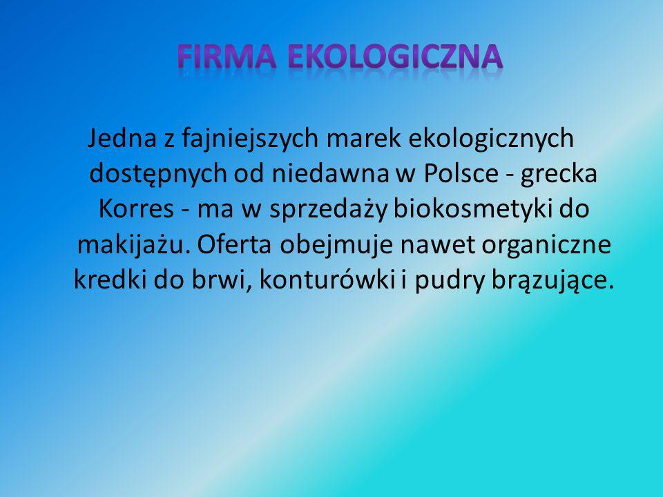 Jedna z fajniejszych marek ekologicznych dostępnych od niedawna w Polsce - grecka Korres - ma w sprzedaży biokosmetyki do makijażu. Oferta obejmuje na