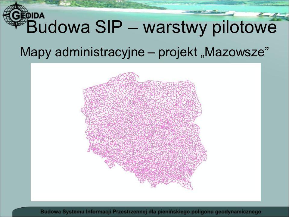 Mapy administracyjne – projekt Mazowsze