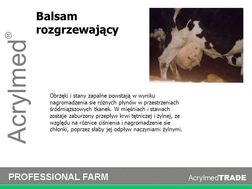 Acrylmed ® Balsam rozgrzewający Obrzęki i stany zapalne powstają w wyniku nagromadzenia sie różnych płynów w przestrzeniach śródmiąższowych tkanek. W