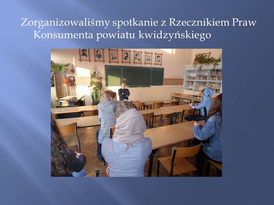 Zorganizowaliśmy spotkanie z Rzecznikiem Praw Konsumenta powiatu kwidzyńskiego