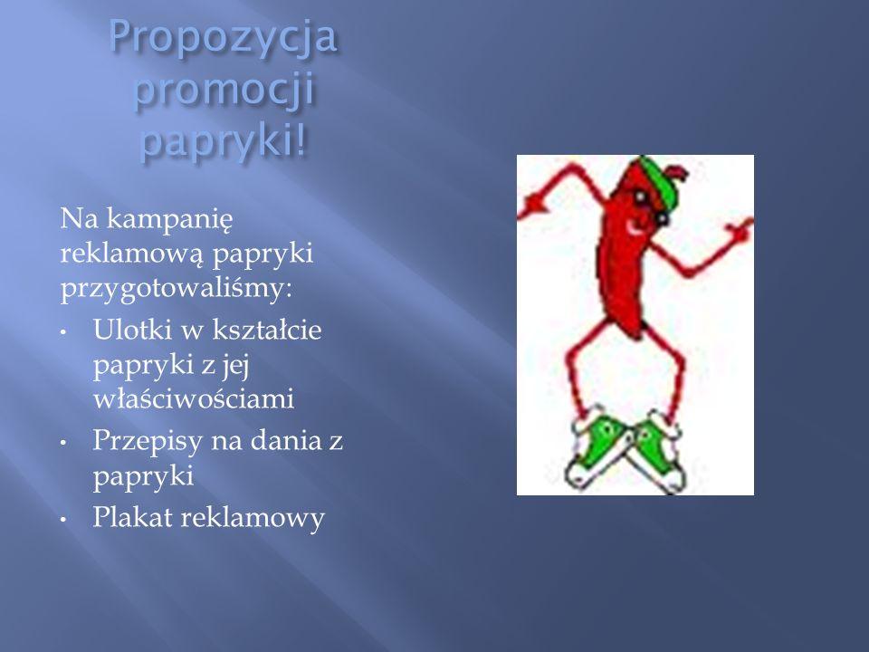 Propozycja promocji papryki.