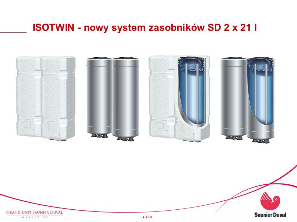 14 ISOTWIN - nowy system zasobników SD 2 x 21 l