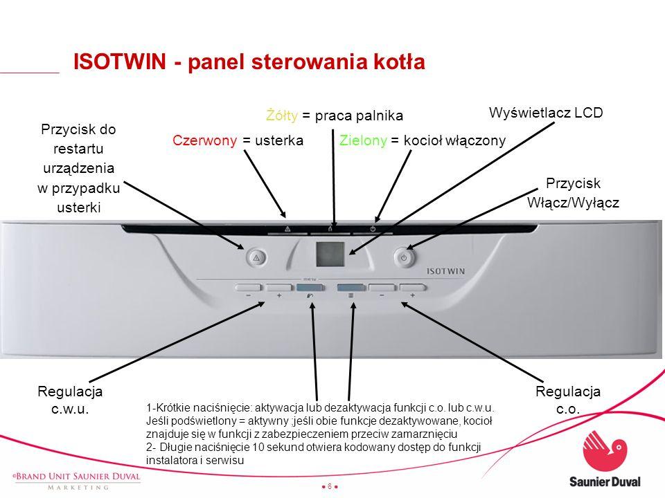 27 ISOTWIN - oszczędność wody, gazu i energii elektrycznej Tylko 42 l .