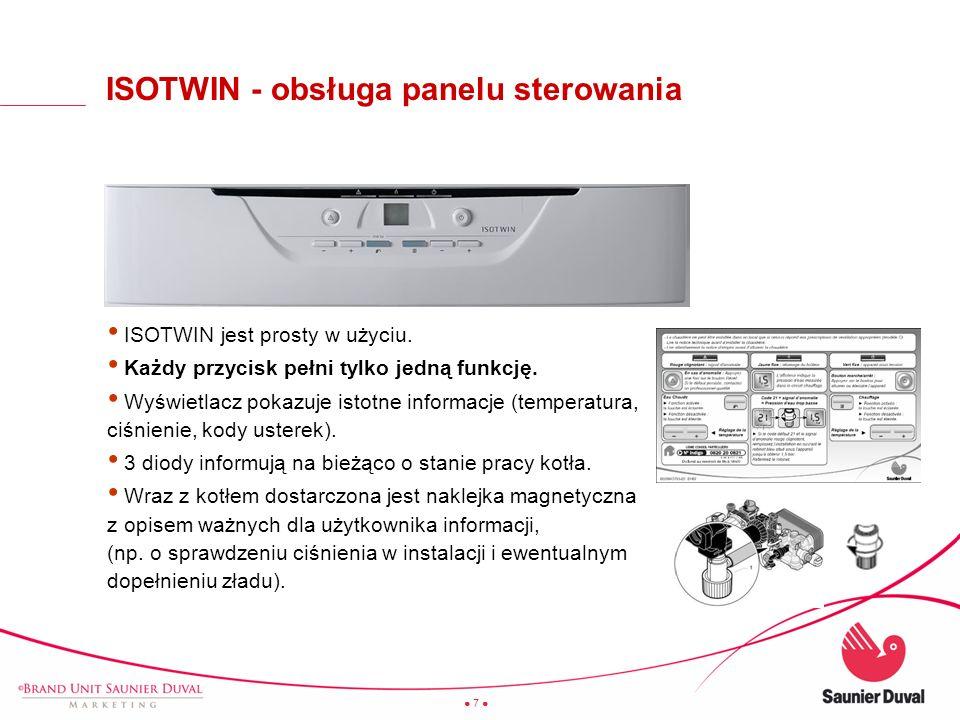 7 + ISOTWIN jest prosty w użyciu. Każdy przycisk pełni tylko jedną funkcję. Wyświetlacz pokazuje istotne informacje (temperatura, ciśnienie, kody uste