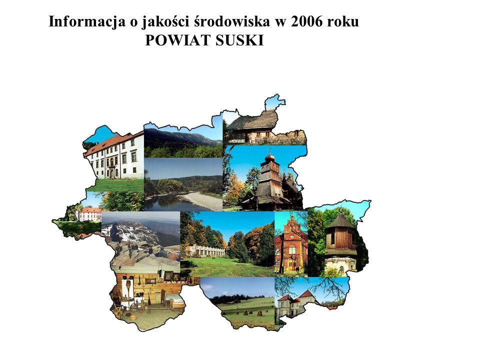 Informacja o jakości środowiska w 2006 roku POWIAT SUSKI
