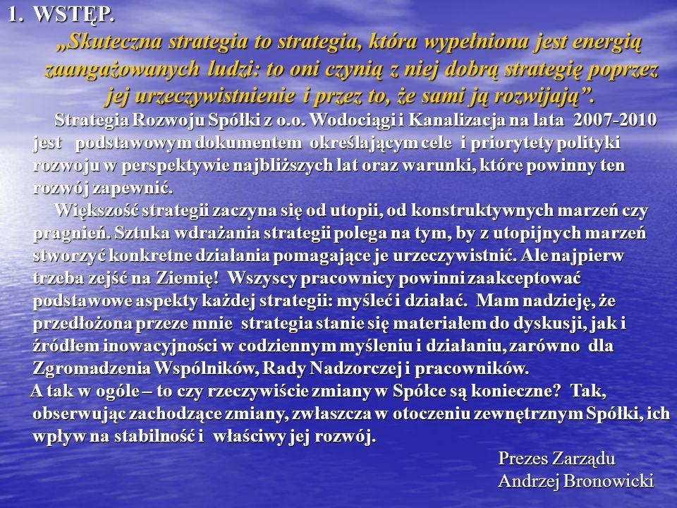 1.WSTĘP. Skuteczna strategia to strategia, która wypełniona jest energią zaangażowanych ludzi: to oni czynią z niej dobrą strategię poprzez jej urzecz