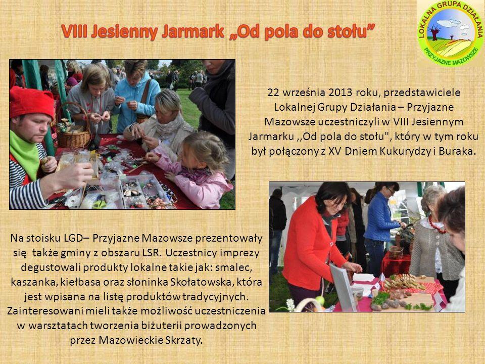 Na stoisku LGD– Przyjazne Mazowsze prezentowały się także gminy z obszaru LSR.