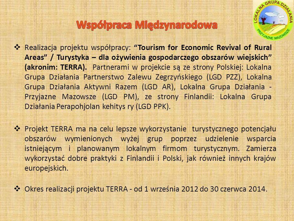 Realizacja projektu współpracy: Tourism for Economic Revival of Rural Areas / Turystyka – dla ożywienia gospodarczego obszarów wiejskich (akronim: TERRA).