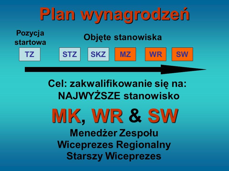 Cel: zakwalifikowanie się na: NAJWYŻSZE stanowisko MKWRSW MK, WR & SW STZTZSKZMZWRSW Pozycja startowa Objęte stanowiska Menedżer Zespołu Wiceprezes Re