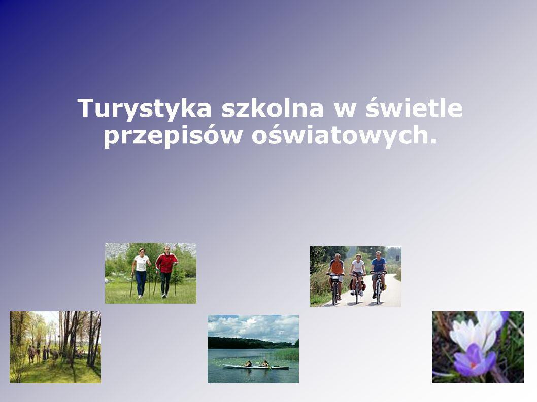 Turystyka i krajoznawstwo Podróże mające na celu obserwowanie i poznawanie przyrody: roślin, zwierząt, form geologicznych, obszarów wodnych Umiejętności – lingwistyczne, organizacyjne, komunikacyjne, umiejętność korzystania z różnych źródeł informacji Wypoczynek i rekreacja – aktywność sprzyjająca zachowaniu zdrowia: wędrówki piesze, rowerowe, górskie, żeglarskie, kajakowe, narciarskie, motorowodne, autokarowe, bezpieczny wypoczynek Emocje, przeżywanie przygód, integracja, tolerancja, współpraca w zespole, odpowiedzialność za siebie i innych, przestrzeganie regulaminu – określonych zasad, norm etycznych Poznawanie środowiska i kultury odwiedzanego kraju, regionu, miejscowości (zabytki, instytucje, wydarzenia kulturalne)