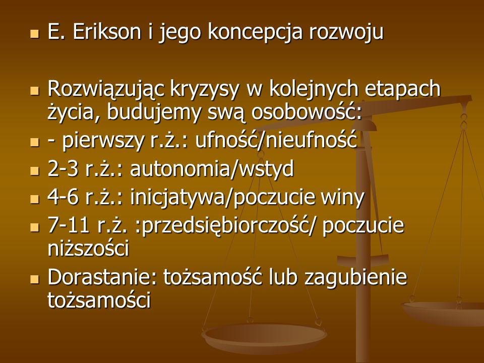 E.Erikson i jego koncepcja rozwoju E.