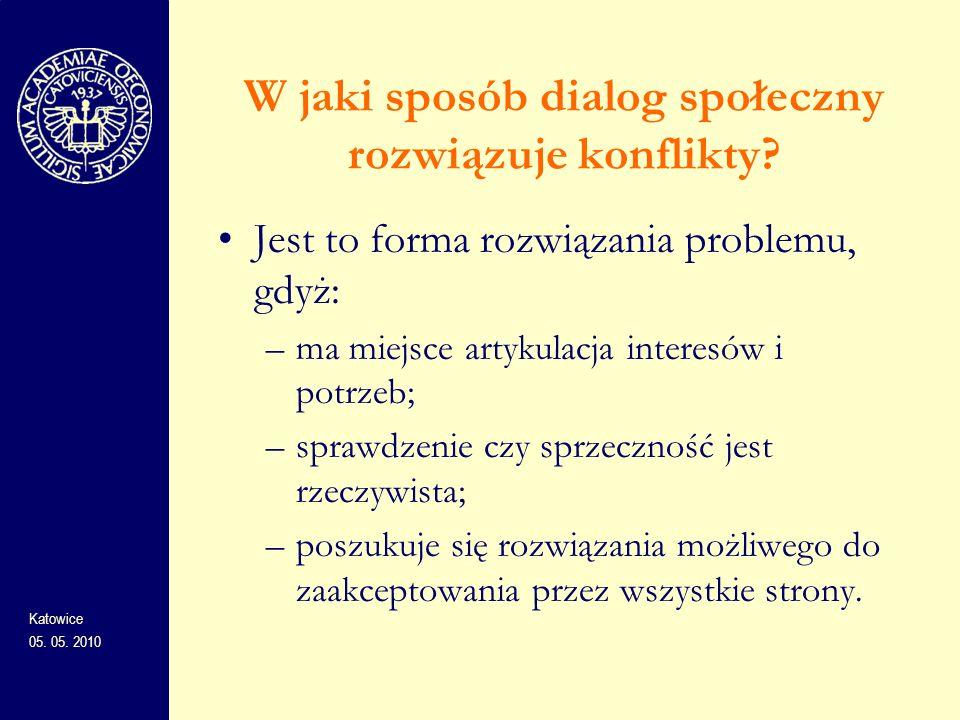 W jaki sposób dialog społeczny rozwiązuje konflikty? Jest to forma rozwiązania problemu, gdyż: –ma miejsce artykulacja interesów i potrzeb; –sprawdzen