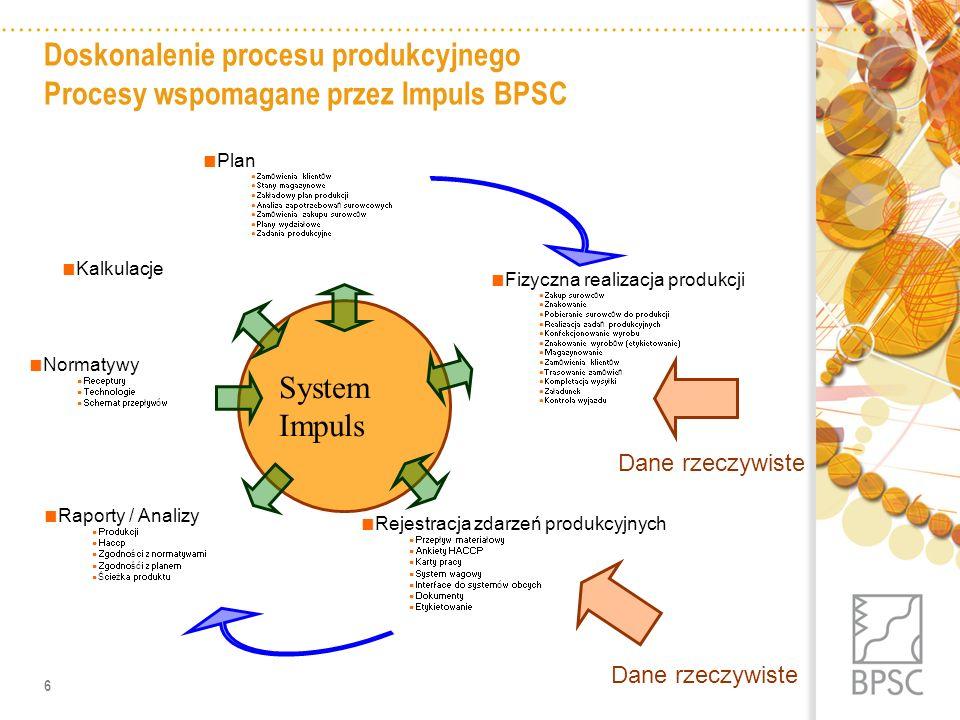 7 Generator dokumentów plan wydziałowy rejestracje zadania produkcyjne dokumenty GM/PM MES Impuls 5 ERP Impuls 5 Plan zakładowy Planowanie produkcji a może sterowanie produkcją ?
