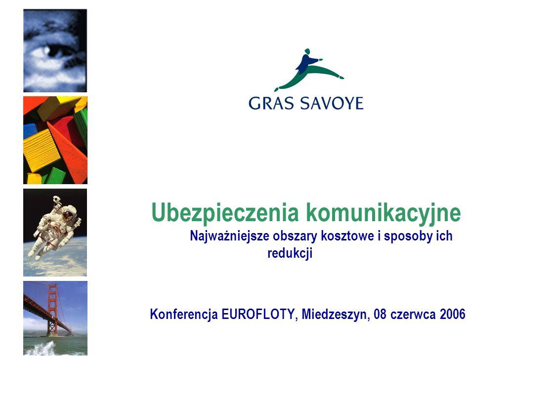 Ubezpieczenia komunikacyjne Najważniejsze obszary kosztowe i sposoby ich redukcji Konferencja EUROFLOTY, Miedzeszyn, 08 czerwca 2006