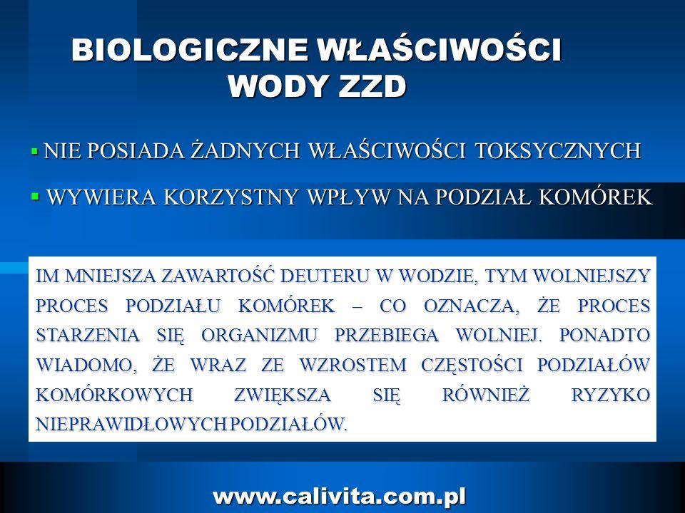 7 www.calivita.com.pl BIOLOGICZNE WŁAŚCIWOŚCI WODY ZZD (NR 150 – ZWYKŁA WODA ; NR 20 – WODA ZZD ; PO 10 DNIACH) GOŹDZIKKIEŁKI