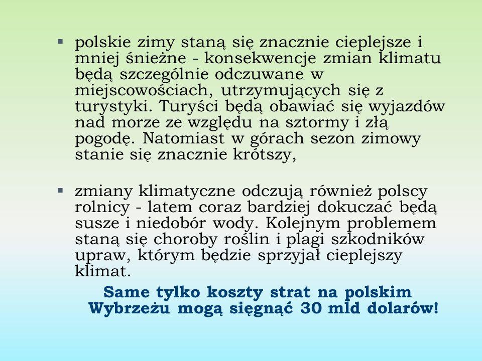 polskie zimy staną się znacznie cieplejsze i mniej śnieżne - konsekwencje zmian klimatu będą szczególnie odczuwane w miejscowościach, utrzymujących si