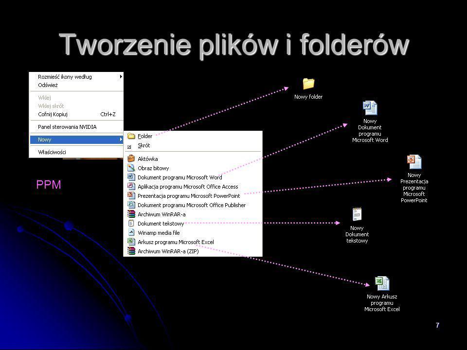 7 Tworzenie plików i folderów PPM