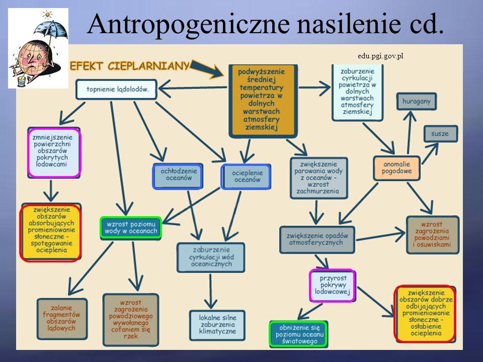 Antropogeniczne nasilenie cd. edu.pgi.gov.pl