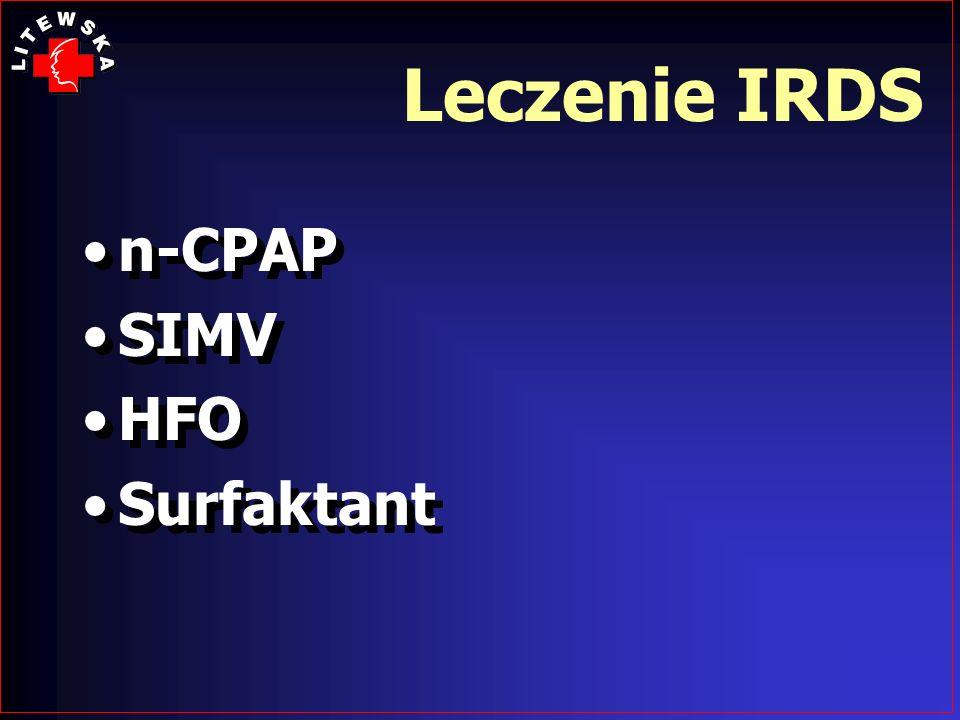 Leczenie IRDS n-CPAP SIMV HFO Surfaktant n-CPAP SIMV HFO Surfaktant