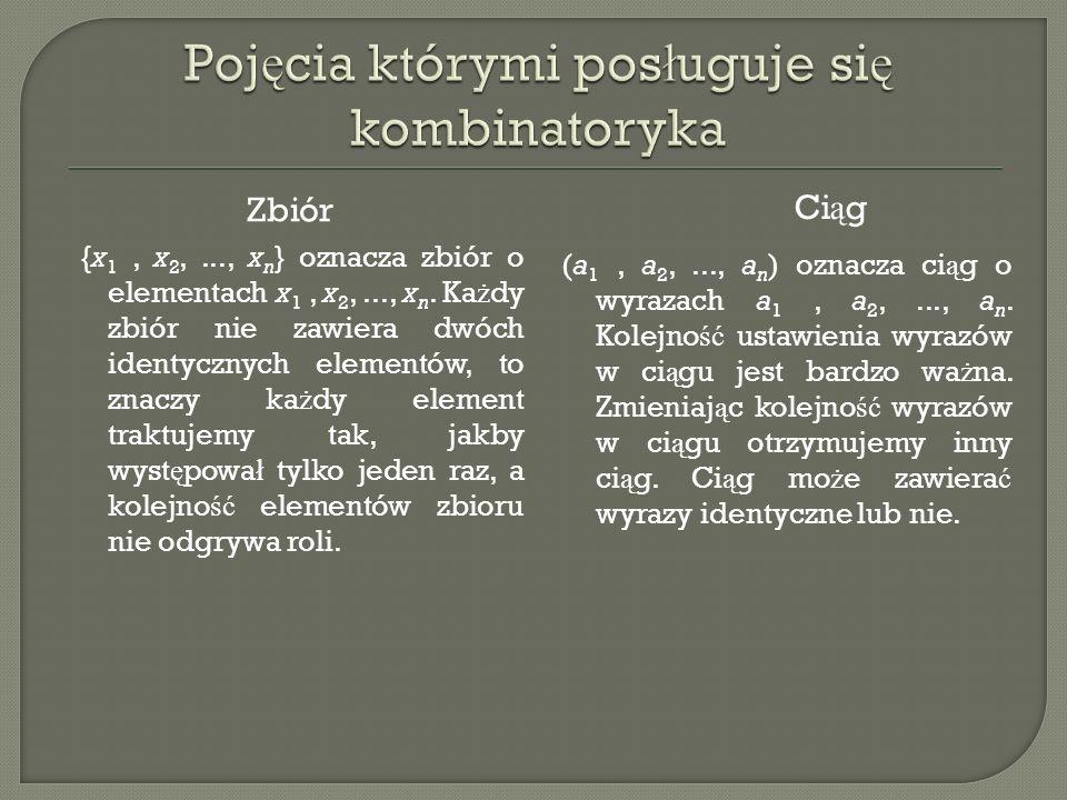 Ka ż e powitanie to dwuelementowa kombinacja zbioru dwunastoelementowego.