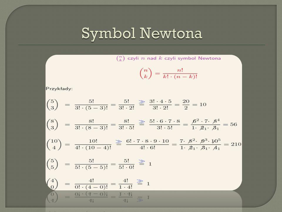 Permutacj ą bez powtórze ń zbioru n- elementowego nazywamy ka ż dy n-wyrazowy ci ą g utworzony ze wszystkich elementów tego zbioru.