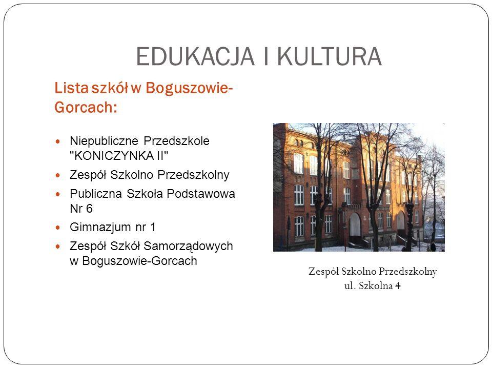 EDUKACJA I KULTURA Lista szkół w Boguszowie- Gorcach: Niepubliczne Przedszkole