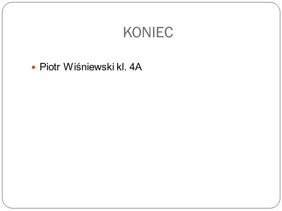 KONIEC Piotr Wiśniewski kl. 4A